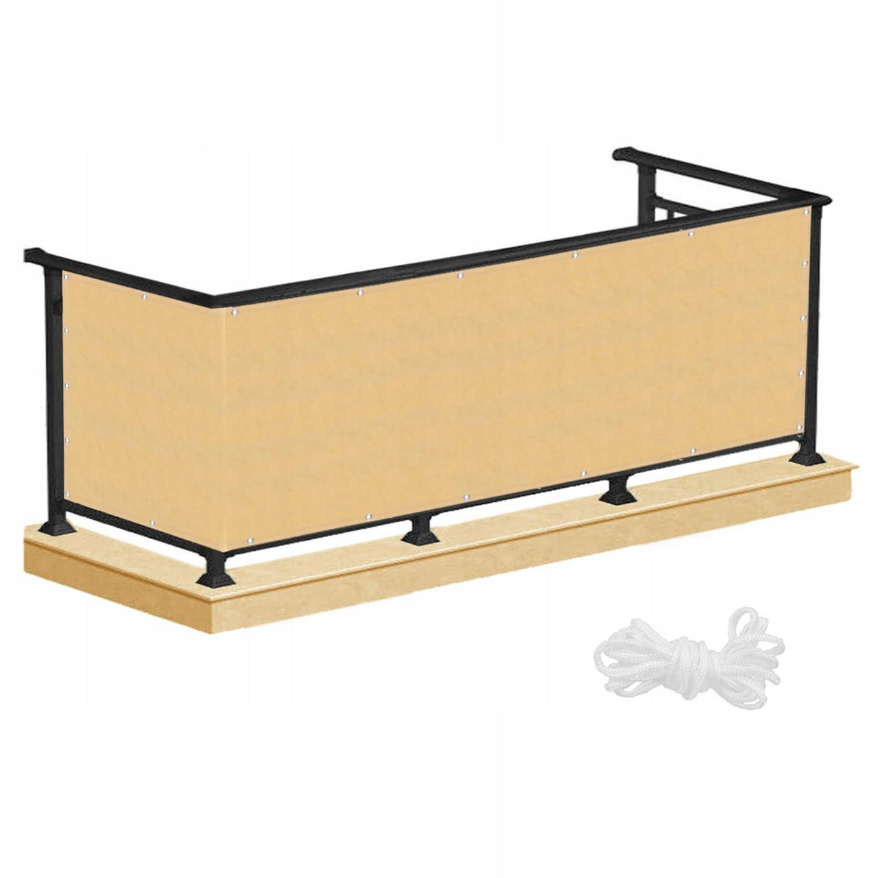 Ширма для балкона (балконный занавес) Springos 0.9 x 5 м BN1013 Бежева