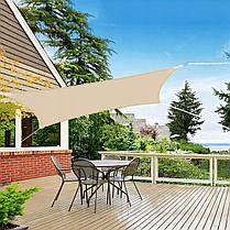 Тент-вітрило тіньовий для дому, саду та туризму Springos 3 x 3 м SN1030 Beige, фото 2