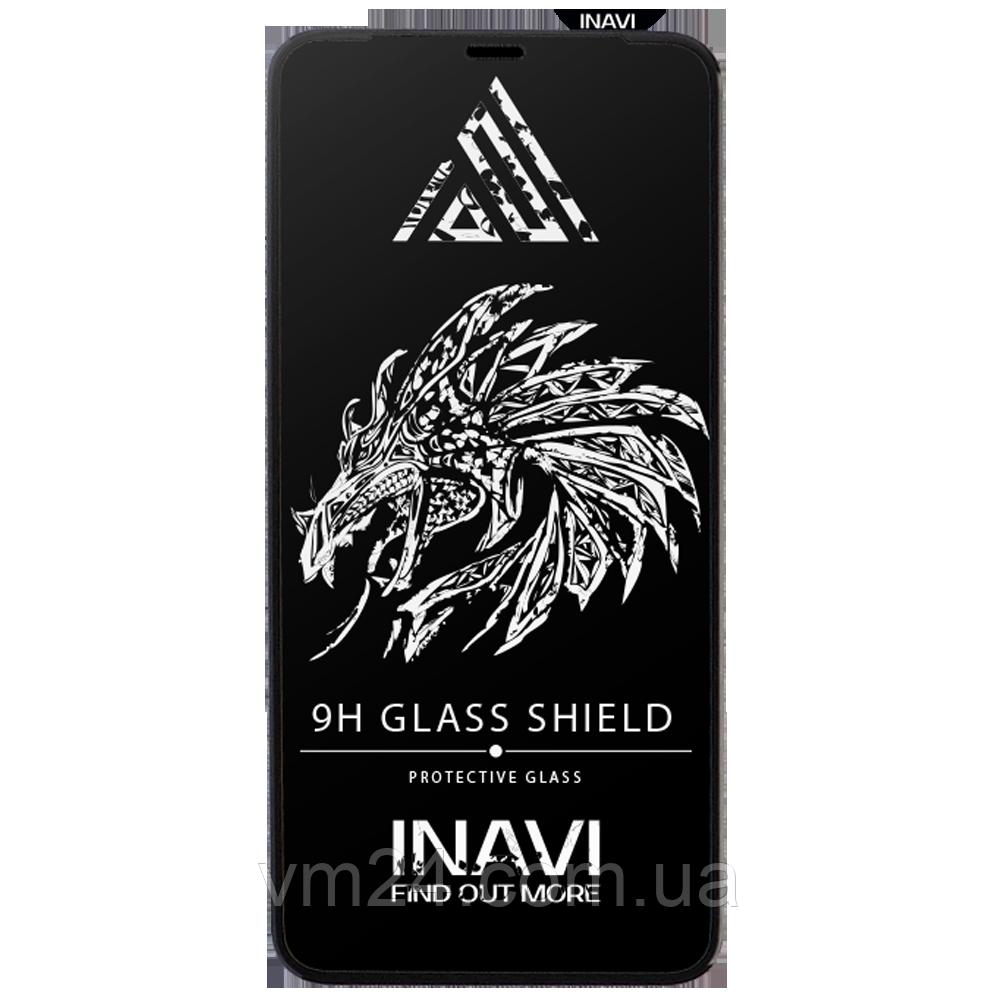 Защитное стекло (NP) INAVI PREMIUM Xiaomi Redmi Note 8T черный (черная рамка)