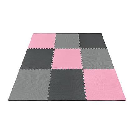 Мат-пазл (ласточкин хвост) 4FIZJO Mat Puzzle EVA 180 x 180 x 1 cм 4FJ0157 Black/Grey/Pink, фото 2