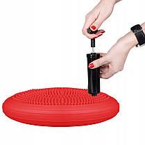 Балансировочная подушка (сенсомоторная) массажная Springos PRO FA0085 Red, фото 3