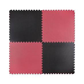 Мат-пазл (ластівчин хвіст) 4FIZJO Mat Puzzle EVA 100 x 100 x 2 см 4FJ0168 Black/Red, фото 2