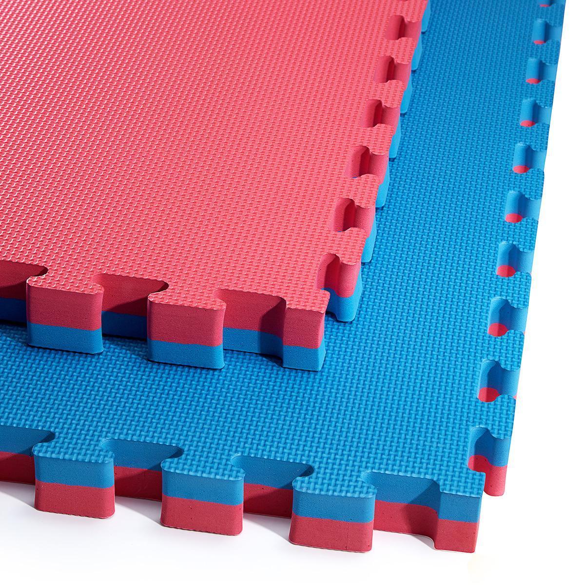 Мат-пазл (ластівчин хвіст) 4FIZJO Mat Puzzle EVA 100 x 100 x 4 см 4FJ0169 Blue/Red