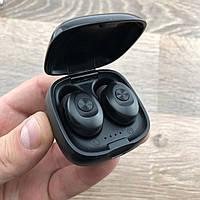 Беспроводные Bluetooth наушники mini TWS XG-12 BT5.0 с кейсом для зарядки черные