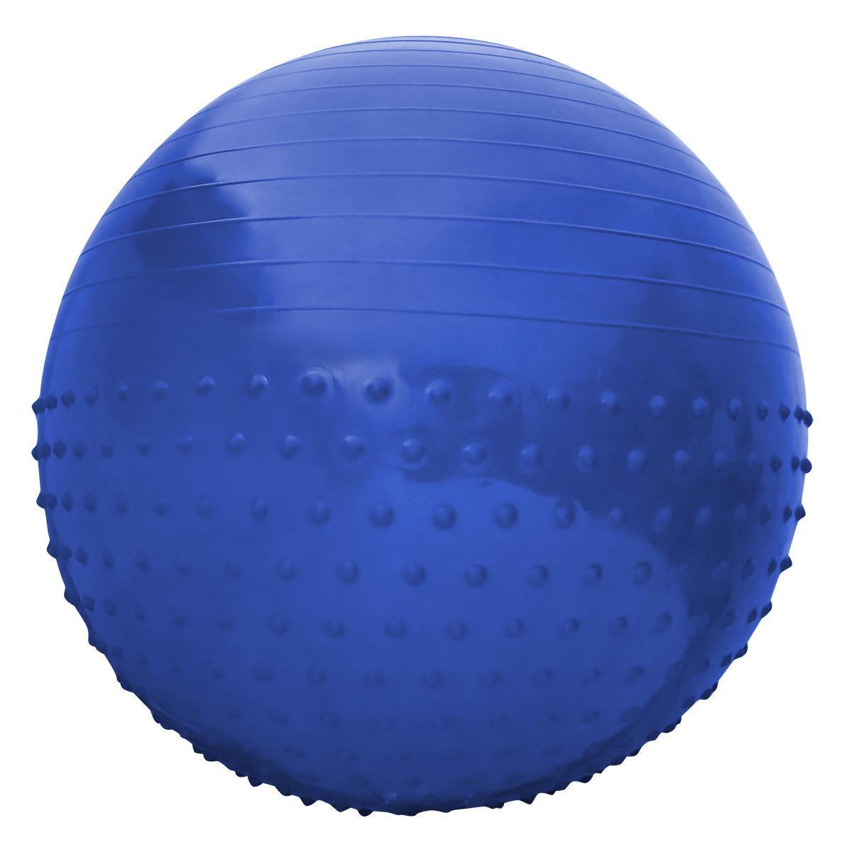 М'яч для фітнесу (фітбол) полумассажный SportVida 55 см Anti-Burst SV-HK0290 Blue