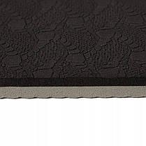Килимок (мат) для йоги та фітнесу Springos TPE 6 мм YG0013 Black/Grey, фото 3