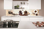 Стеклянный фартук для кухни - скинали Кофе в зернах, кофемолка, фото 2