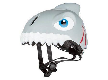 Детский шлем Crazy Safety Акула - Шлемы детские для роликов, самоката, велосипеда, фото 2