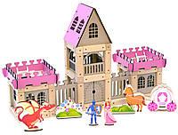 Деревянный эко-конструктор Zevs-toys Замок для принцессы 133 детали (4003304)
