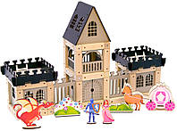 Деревянный эко-конструктор Zevs-toys Замок 133 детали (4003294)