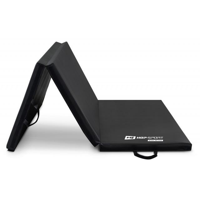 Мат гимнастический Hop-Sport HS-095FM с липучкой 5см черный