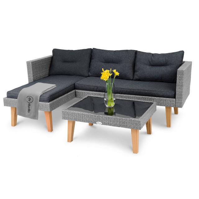 Набір садових меблів IMOLA DV-001GF - сіро - графітові