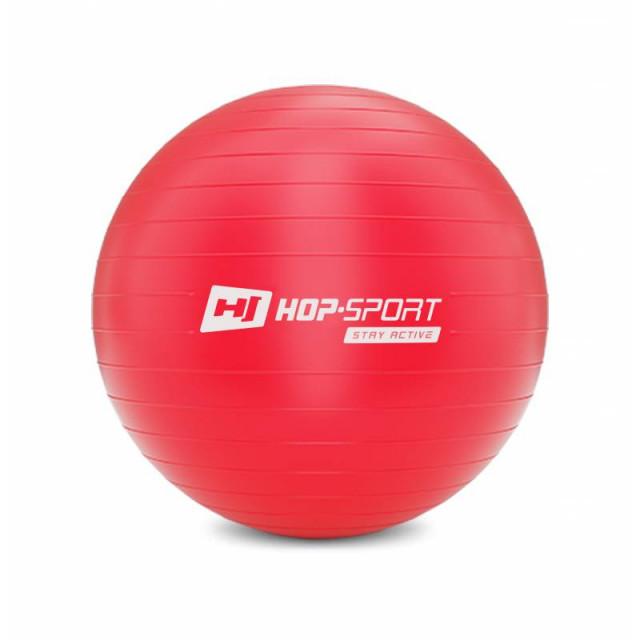 Фитбол Hop-Sport HS-R065YB 55 см красный + насос 2020
