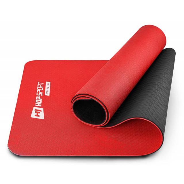 Мат для фитнеса и йоги TPE 0,6 см HS-T006GM  red