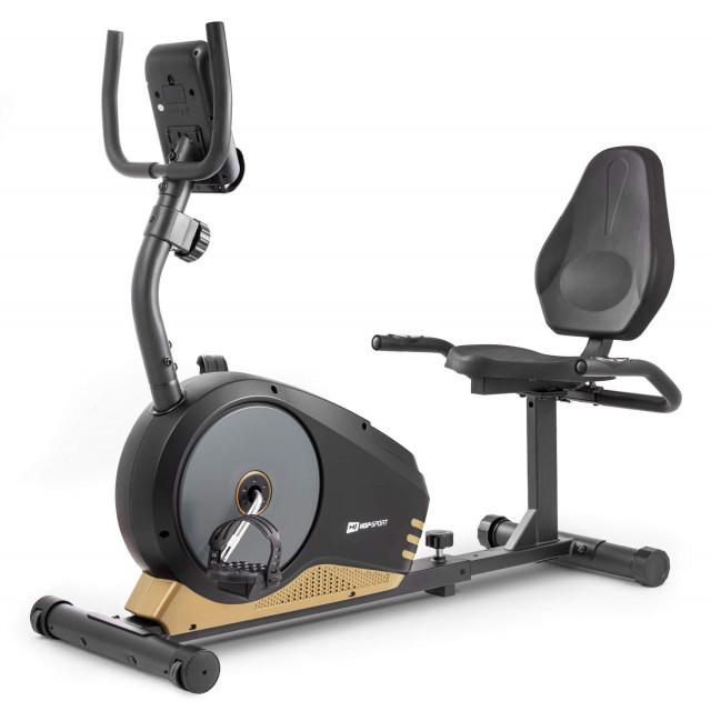 Горизонтальний велотренажер HS-040L Root black/gold/grey - model 2020