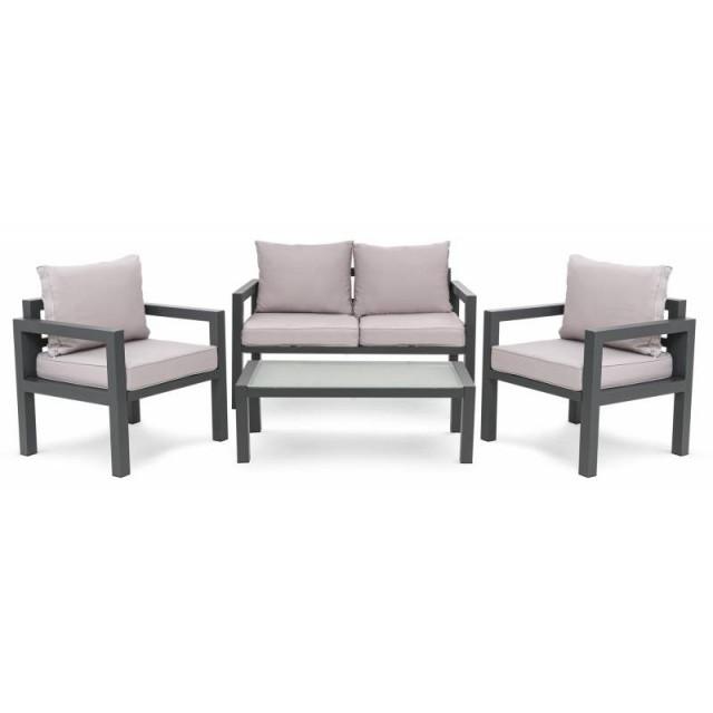 Комплект садових меблів Brescia 2 Сірий/Світло-сірий