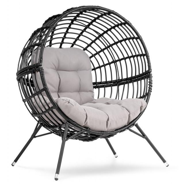 Садове крісло Arancia DV-035BA чорно-сірий