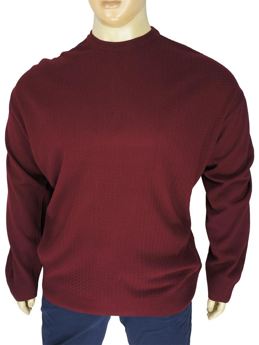 Чоловічий демісезонний светр Turhan 169 Bordo бордового кольору у великому розмірі