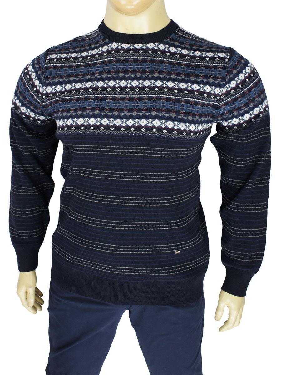 Якісний чоловічий светр Yamak 3637 lacivert у великому розмірі