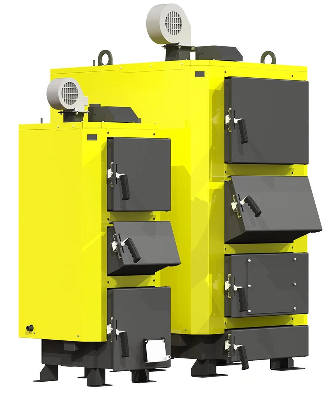 Твердотопливный котел с ручной загрузкой Kronas UNIC New 27 кВт с автоматикой и функцией PID