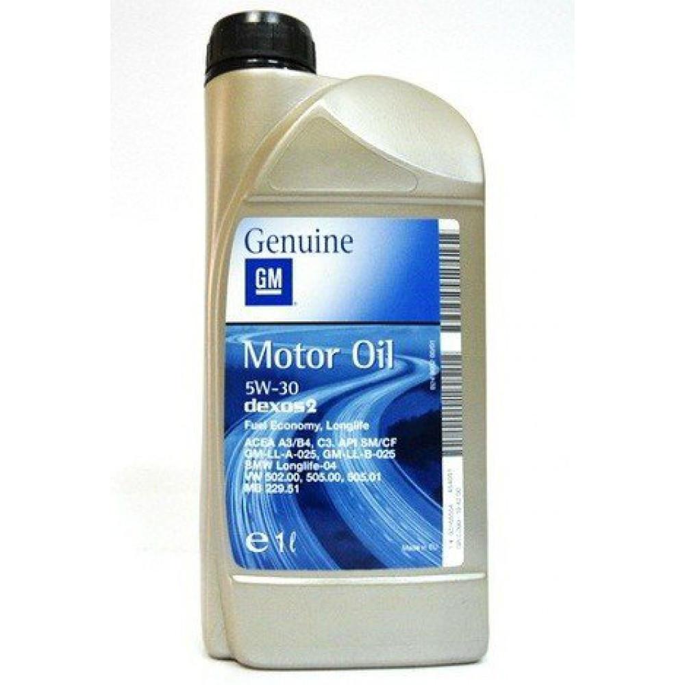 Моторное масло GM/OPEL 5W30 Dexos2 1л синтетика Genuine LongLife оригинальное для Opel Chevrolet Daewoo 5W-30