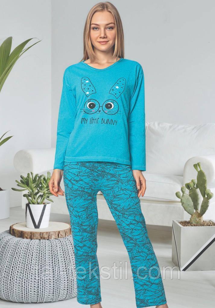 Пижама женская длинный рукав и брюки хлопок Т.М ROSE Турция