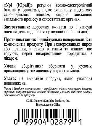 Ury Юрай, НСП, NSP, США Натуральный препарат для здоровья почек и предстательной железы, фото 2