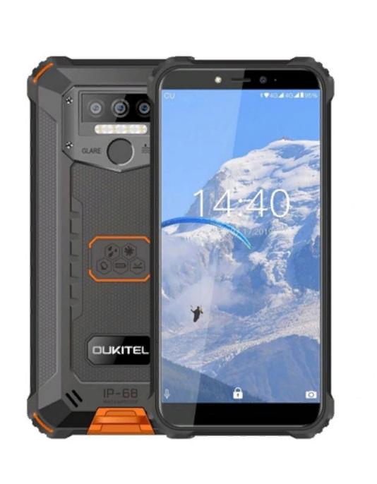 Смартфон водонепроницаемый, оранжевый с большим дисплеем на 2 сим карты OUKITEL WP5 orange 4/32 гб
