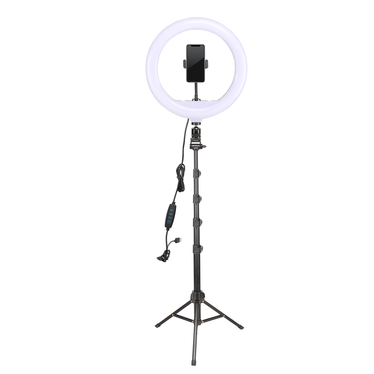 """Кільцевий LED світло YQ-320B (12"""" - 32см) з пультом (провідним), держателем і стійкою 2м для б'юті, селфи"""