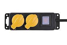 Сетевой фильтр 2Е 2 розетки С защитой и выключателем 3 м Черный, фото 2