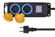 Сетевой фильтр 2Е 2 розетки С защитой и выключателем 3 м Черный, фото 3