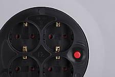 Мережевий подовжувач 2Е 4 розетки 40 м Із заземленням Сіро-жовтий, фото 3