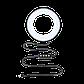 """Кільцевий LED освітлювач ZM118 (10"""" - 27см) з пультом, USB, стійкою 55 см і шарніром для предметної зйомки, фото 7"""