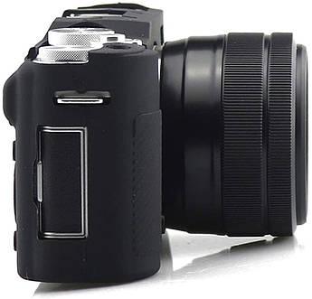 Захисний силіконовий чохол для фотокамери FujiFilm X-A3, X-A10 X-A20 X-A5 - чорний