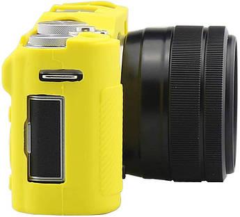 Захисний силіконовий чохол для фотокамери FujiFilm X-A3, X-A10 X-A20 X-A5 - жовтий