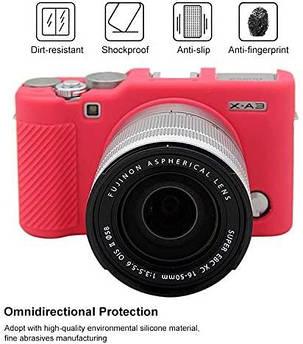 Захисний силіконовий чохол для фотокамери FujiFilm X-A3, X-A10 X-A20 X-A5 - червоний