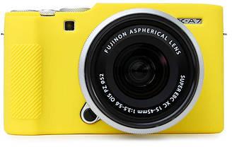 Захисний силіконовий чохол для фотокамери FujiFilm X-A7 - жовтий