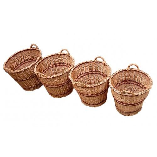 Набор корзин из лозы (4шт)