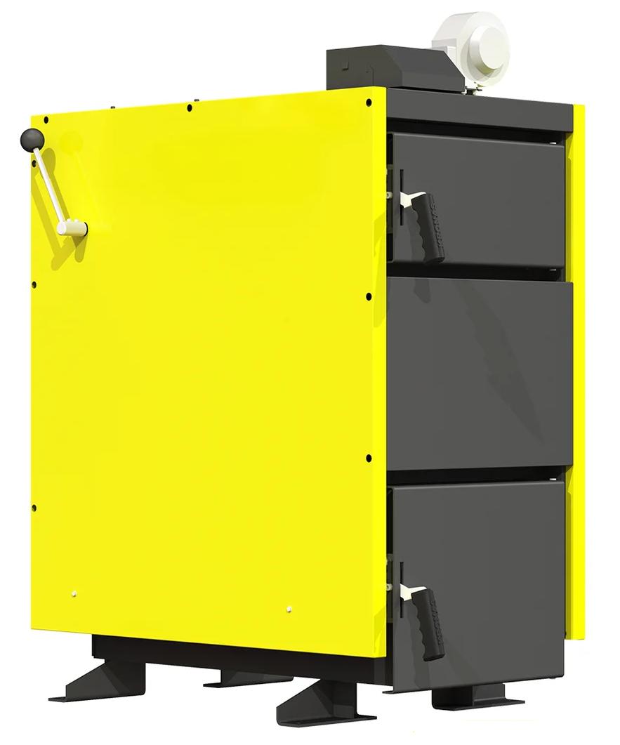 Шахтный котел нижнего горения сталь 6 мм Kronas JET 30 кВт с европейской автоматикой и функцией PID