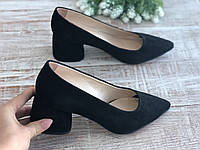 Кожаные женские туфли Маріні 56 ч/з размеры 36-40, фото 1