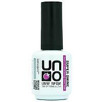 Каучуковый топ UNO Super Shine без липкого слоя Топ финиш для гель-лака (финишное покрытие, закрепитель)