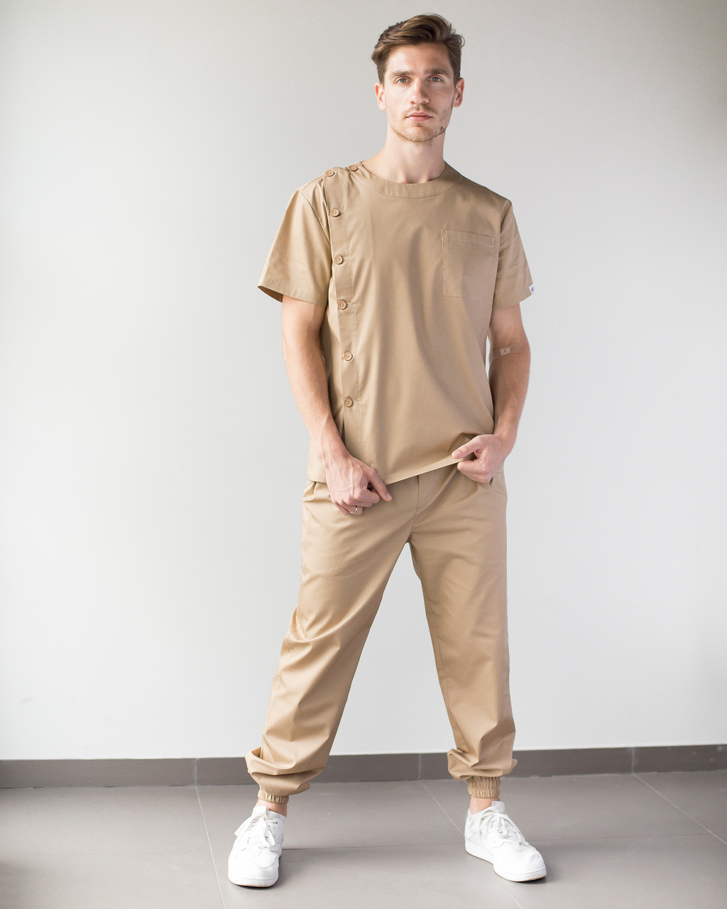 Медичний чоловічий костюм Техас пісочний