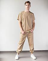 Медичний чоловічий костюм Техас пісочний, фото 1