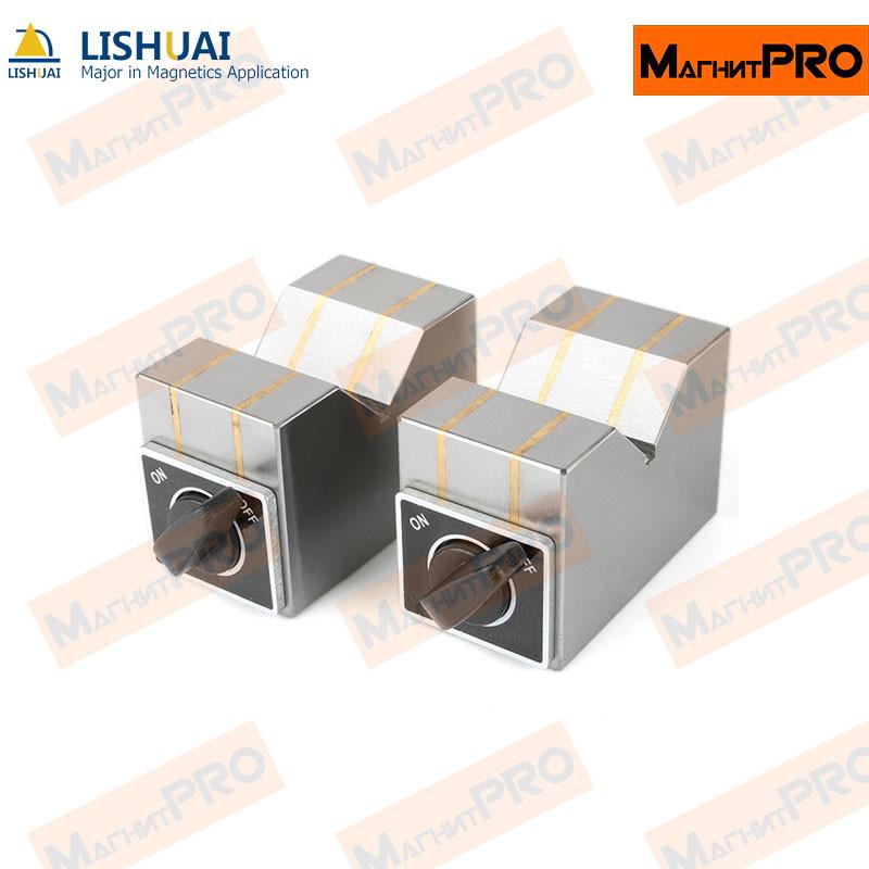 Магнитный V-образный блок MB-V80