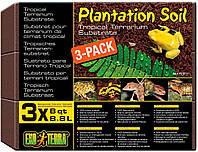Наповнювач для тераріума Exo Terra «Plantation Soil» 8,8 л, 3 шт (кокосовий субстрат)