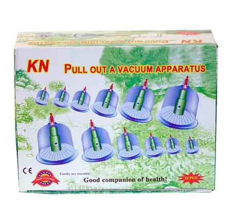 Вакуумные массажные антицеллюлитные банки с насосом для домашней терапии Pull Out a Vacuum Apparatus 12 шт, фото 2