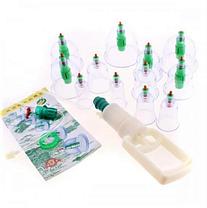 Вакуумные массажные антицеллюлитные банки с насосом для домашней терапии Pull Out a Vacuum Apparatus 12 шт, фото 3