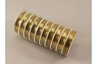 Проволока для бисера: 0,3 мм золото (30метров)