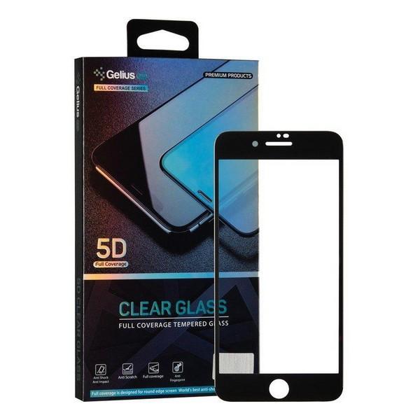 Захисне скло Apple iPhone 7/iPhone 8 5D Pro Clear Glass (чорне) Gelius