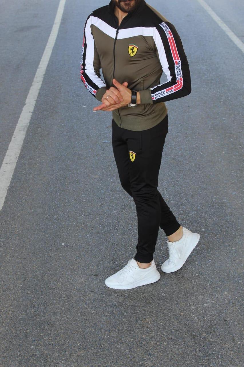 Мужской спортивный костюм Порш хаки